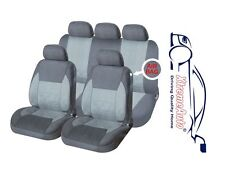 9 PCE Full Set of Grey Woven Fabric Seat Covers for Renault Clio Twingo Laguna