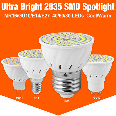 6W E14 E27 GU10 MR16 LED SPOT LIGHTS 2835 LAMP SITTING ROOM STUDIO CABINET BULBS