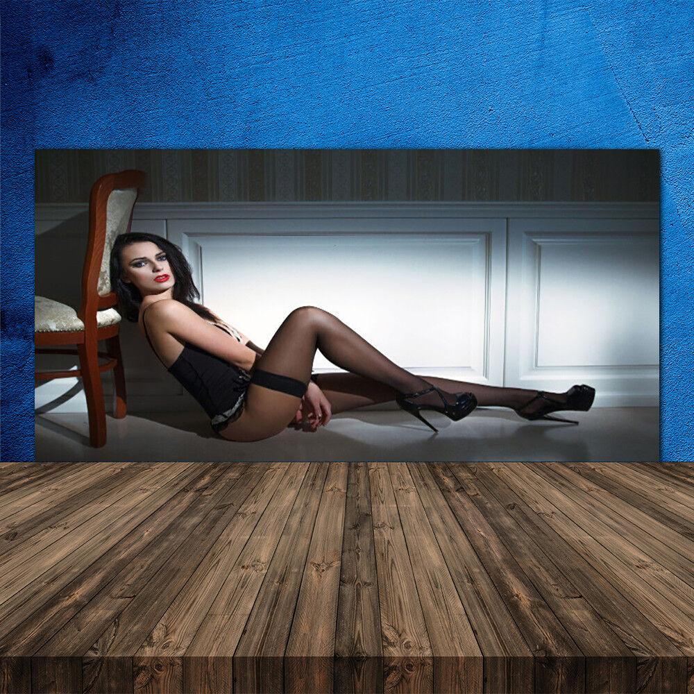 Crédence de cuisine en verre Panneau 120x60 Personnes Femme Chaise