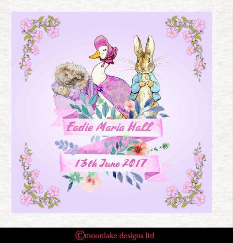 Jemima Travieso Winkle Peter Rabbit Bday Bautizo Tejido Costura en color de rosa