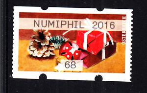 2016 12 02, ATM,AWZ,NUMIPHIL 2016 , Einzelmarke, 68 Cent, Rot, Weihnachten - leopoldsdorf, Österreich - 2016 12 02, ATM,AWZ,NUMIPHIL 2016 , Einzelmarke, 68 Cent, Rot, Weihnachten - leopoldsdorf, Österreich