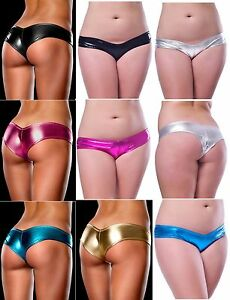 Plus-Size-Panties-Underwear-Metallic-High-Cut-Briefs-14-to-24-More-Colours