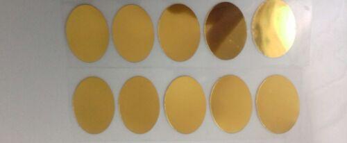 Las transferencias de Hierro en Hotfix 10 Oro Espejo óvalos tamaño 2.5cm alto forma de huevo de Pascua