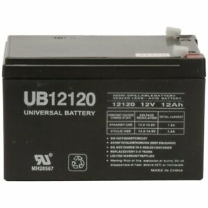 6FM12 12 Volt 12 AmpH SLA Replacement Battery with F2 Terminal