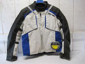 New-BRP-Can-am-Mens-Caliber-Riding-Padded-Jacket-Coat-Blue-Black-Large-C13