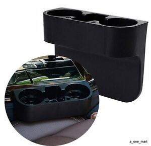 universal 2 cup holder drink beverage seat seam wedge car auto truck mount. Black Bedroom Furniture Sets. Home Design Ideas