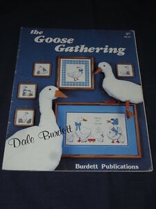Vintage-CROSS-STITCH-PATTERN-BOOK-CHART-Goose-Gathering-Geese