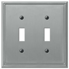 metro line electrical switchplate wall cover brushed nickel toggle rocker outlet
