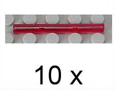 LEGO - 10 x Laserschwert - Stab 1x4 transparent rot / Stäbe / 30374 NEUWARE