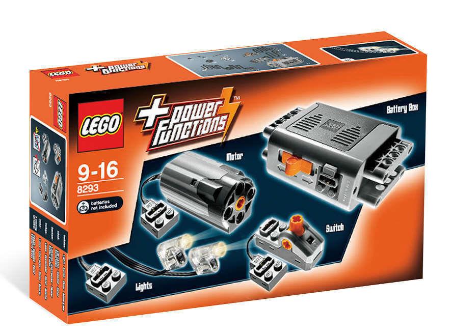 Lego Power Funzioni Tuning Set 8293 Motore Box Batterie Luce Led