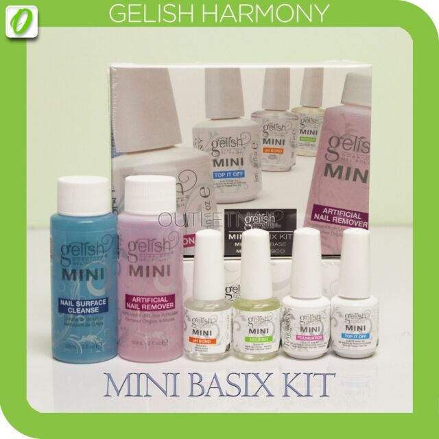 Gelish Harmony Complete Basix Gel Nail Polish Starter Kit - Base Top Remove