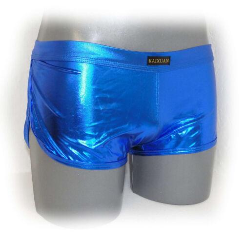 METALLIC Retro Shorts Men Pants glänzed metallico look size L (691)