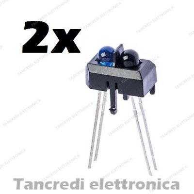 2X SENSORE OTTICO INFRAROSSO TCRT5000 Reflective Optical Sensor infrared Arduino