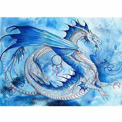 DIY 5D Diamond Painting Dragon In The Sky Embroidery Cross Stitch Home Decor
