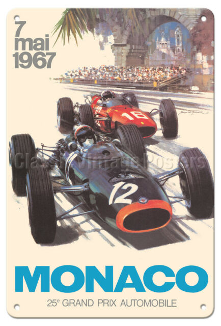 Brooklands Pits Classic//Vintage F1 Grand Prix Motor Racing Small Metal Tin Sign
