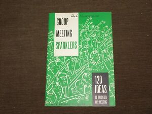 VINTAGE BSA BOY SCOUTS OF AMERICA 1965 GROUP MEETING SPARKLERS BOOK