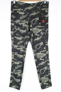 New Balance Women's Dry Core Pocket Leggings Large Camo Green WP03193X