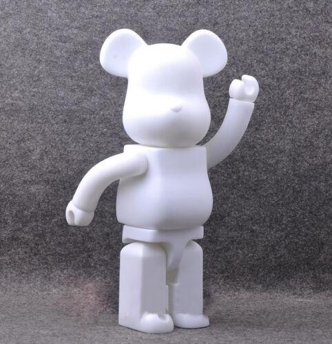 Bearbrick 400 DIY Paint Color White PVC Action Figure Toy 28CM Be@rbrick TOY  G