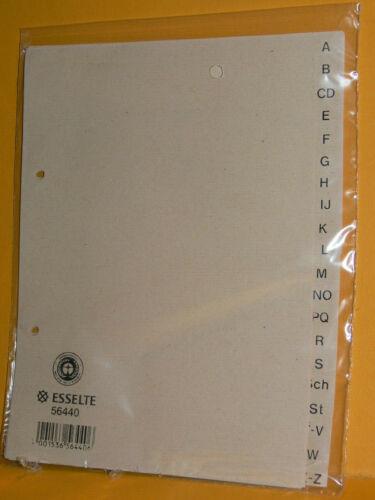 56440 20-teilig A-Z Register DIN A5 Neu Karton Nr Esselte
