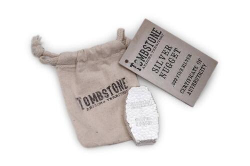 5 oz Tombstone Silver Nugget Bullion Bar .999 Fine Silver #A282