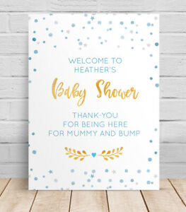 Benvenuto-al-Baby-Shower-personalizzata-TABELLA-INSEGNA-STAMPA-POSTER