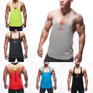 ef22a8a377564 Image is loading Mens-Stringer-Bodybuilding-Tank-Top-Gym-Singlet-Y-