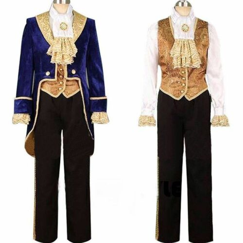 Customized Beauty And The Beast Prince Adam Costume Halloween Wedding Tuxedo