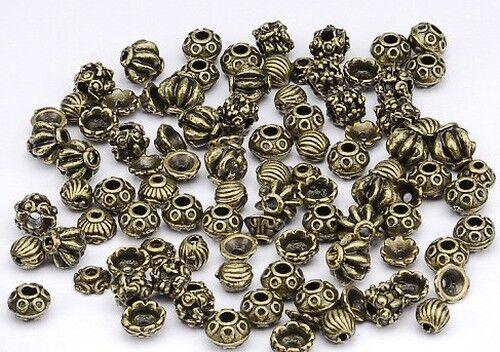 1 Métal Perles//Perlkappen Mix 96 Pièce antique Couleurs