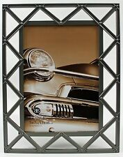 5x7 5 x 7 Pewter Silver Metal Photo Picture Frame Industrial Deco Style New