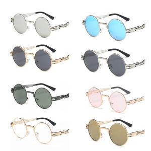 4a7d6d346ed7 Image is loading Vintage-Round-Design-Sun-Glasses-Women-Mens-Fashion-
