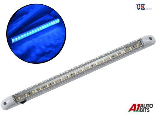1x Led Blau 24v Innenleuchte Licht 400mm an Aus-Schalter Lkw Scania Volvo