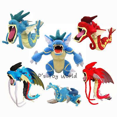 Gyarados Mega Evolution Stand Red Blue Poke Plush Doll