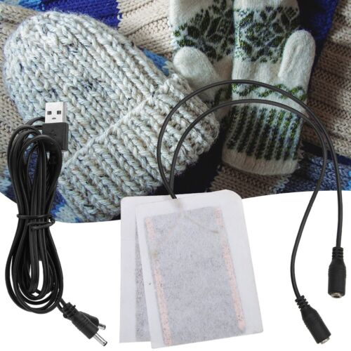 Portable 5V Carbon Fiber Heating Pad Hand Warmer USB Electric Fever Heat Mats!