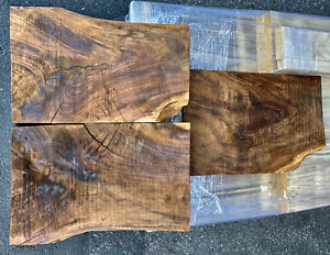 Koa-Flame-Crotch-RARE-Hawaiian-3pc-Bookmatch-SET-22-X-14-5-X-1-125-each