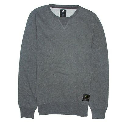 2014 NWOT MENS BILLABONG ROUGH CREW PULLOVER $35 L dark heather grey