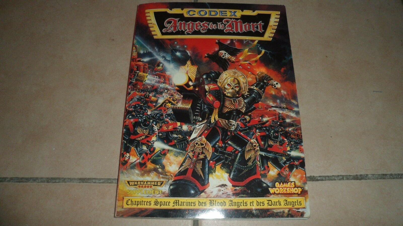 Livre CODEX ANGES DE  LA MORT - Warhammer 40 000 suppléHommest - Games Workshop - BE  autorisation de vente de la marque