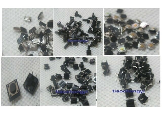 140pcs 14types Momentary Tact Tactile Push Button Switch SMD Assortment Kit Set