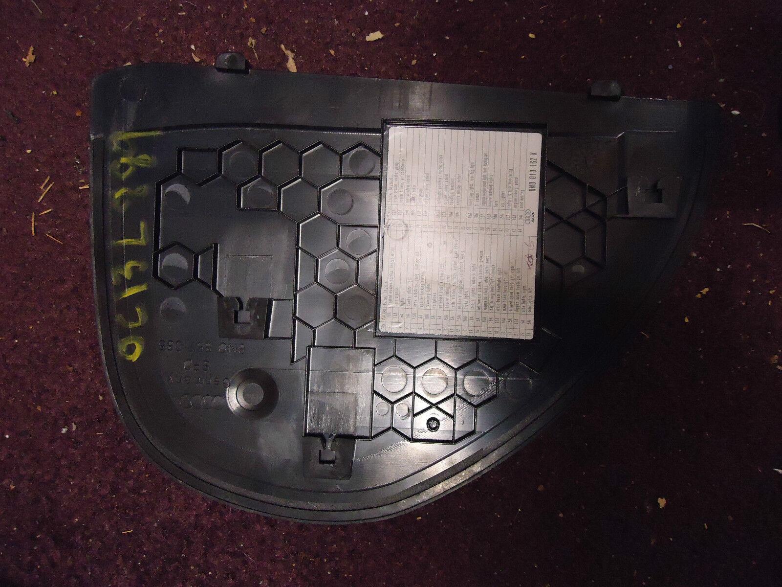 Tt Mk1 Fuse Box Wiring Library Audi Under Hood Dash End Cap Panel Cover Trim 8n0 857 085 Ebay