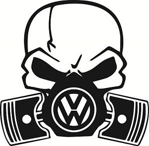 Santa Cruz Subaru >> LARGE Skull Piston gas mask Decal Sticker VW VDub JDM ...