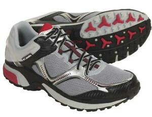 Columbia-Ravenous-Mens-Cool-Grey-Intense-Red-Athletic-Shoes