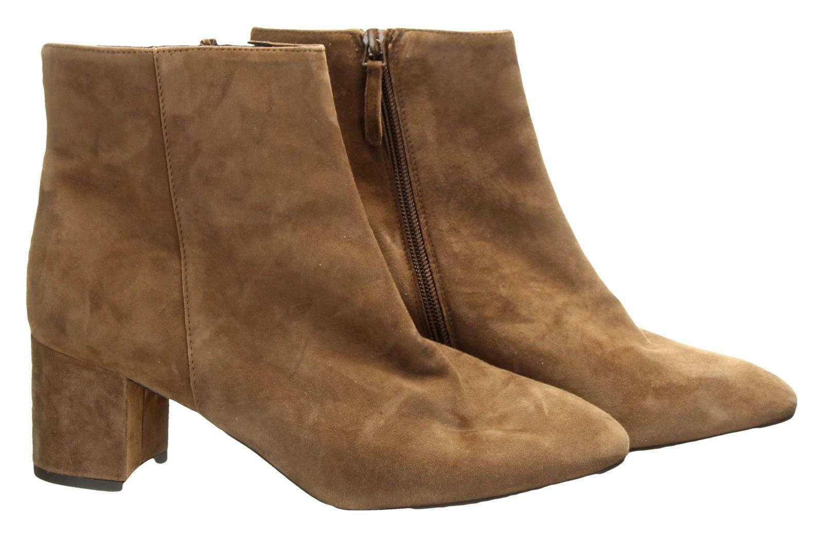 J Crew Hadley Suede Ankle Boots Booties Size 9.5 Pony Brown shoes Style G8118