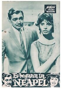 DNFP Es begann in Neapel ( Clark gable , Sophia Loren , Vittorio de Sica )