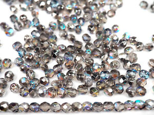 3SFP616 600pcs 3mm 6 colors Set Fire Polished Faceted Round Beads Czech Glass