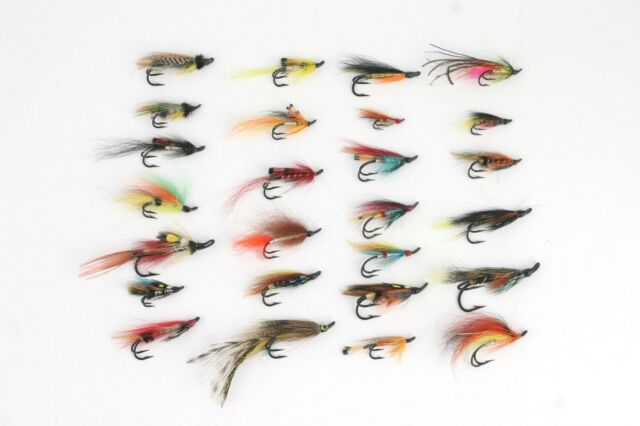 10 Full Dress Salmon Flies Assortment size 1//0