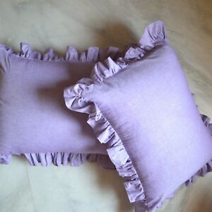 100/% Egyptian cotton 1 Pair Queen Size Solid Pillow Sham All Color 800 TC