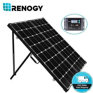 Open Box Renogy 200w 12v Mono Solar Panel Suitcase Off