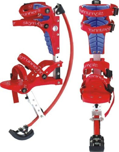 Kids Women Youth Kangaroo Shoes Jumping Stilts Fitness Exercise 88-132lbs RED