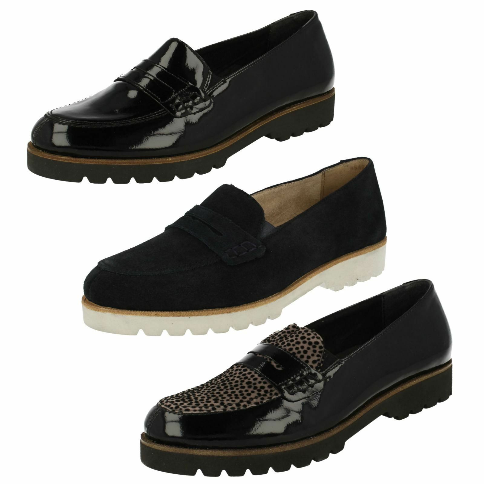 Ladies Remonte Loafer Style Casual Slip On shoes D0101