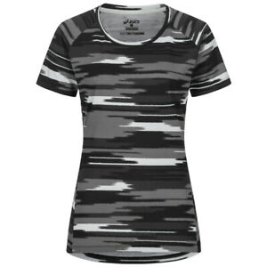ASICS fuzeX Printed Damen Sport Trainings Muster Laufshirt 141213-1197 schwarz