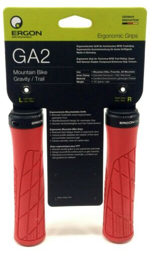 Ergon GA2 Mountain Bike Grips 135mm Red